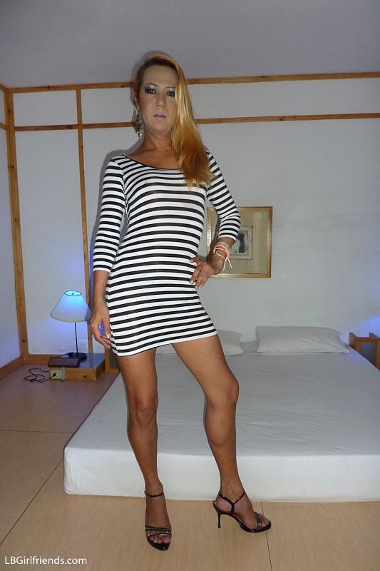 Mature Transexual Vivian Gets Impaled During Upskirt Barebackin