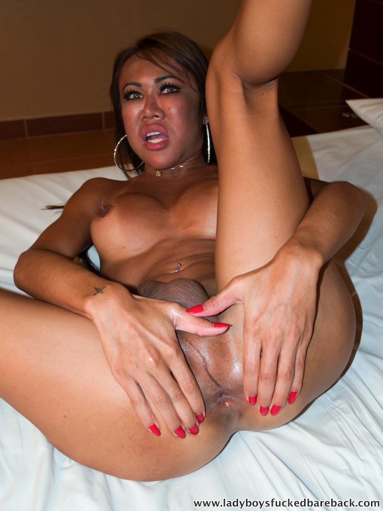 T-Girl Tum Jizzes As Bare Back Penis Enters Her Bum