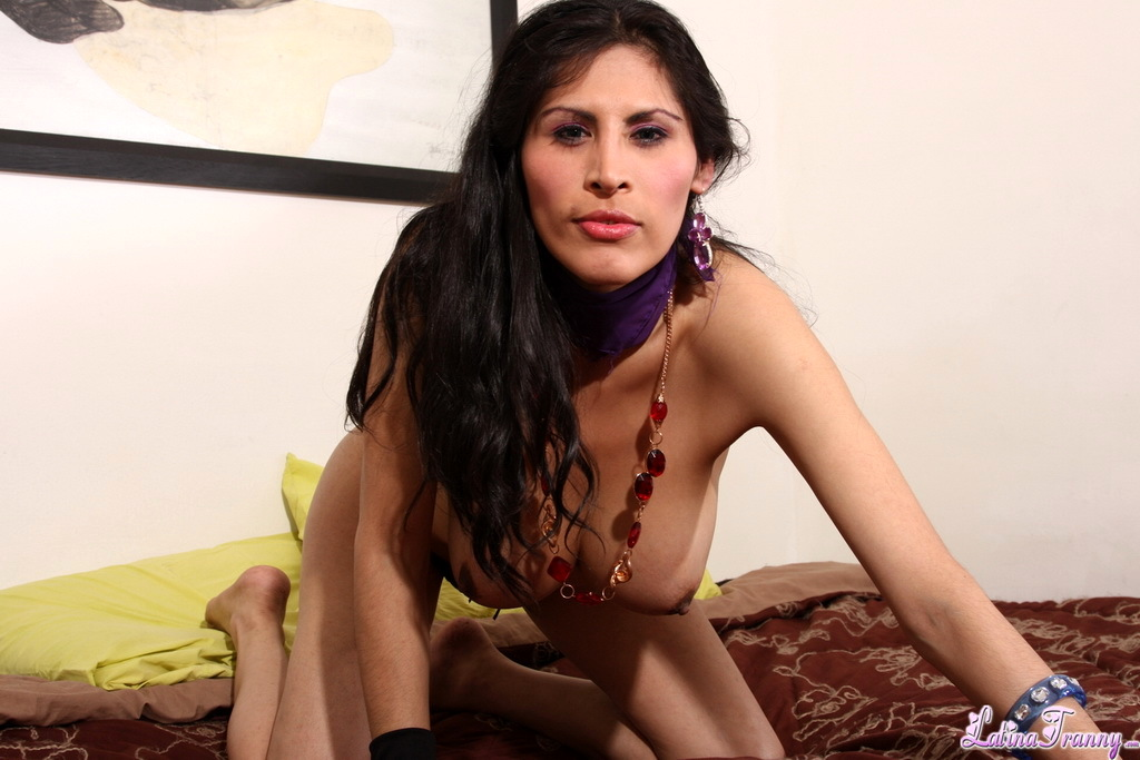 TS Mariysa Posing Her Big Breasts Penis
