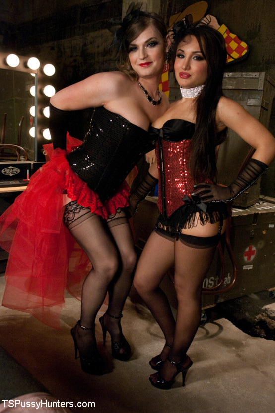 Vaudeville Girls Banging Back Stage: One Has A Pussy One Has A Tool